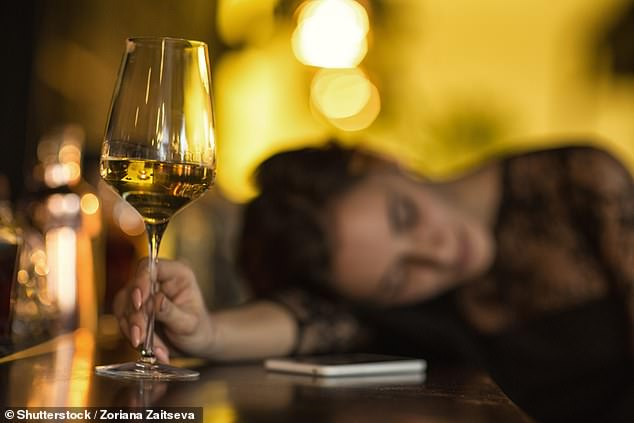 The team found that binge drinking among women - defined as four or more drinks within a couple of hours - soared by 41 per cent over the previous year. Stock image