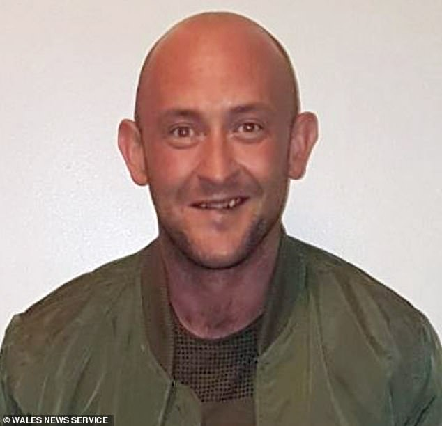 Craig Howick, 38, (pictured) left Alex Roberts, 47, bleeding by the side of the road after smashing into him in his Audi A4