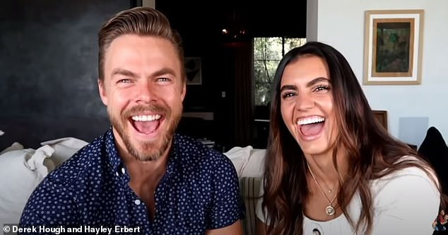 Yay or nay? Hough and Erbert's sighting came four days after publicly addressing whether or not they were planning on getting married on their vlog, Derek & Hayley x Dayley Life