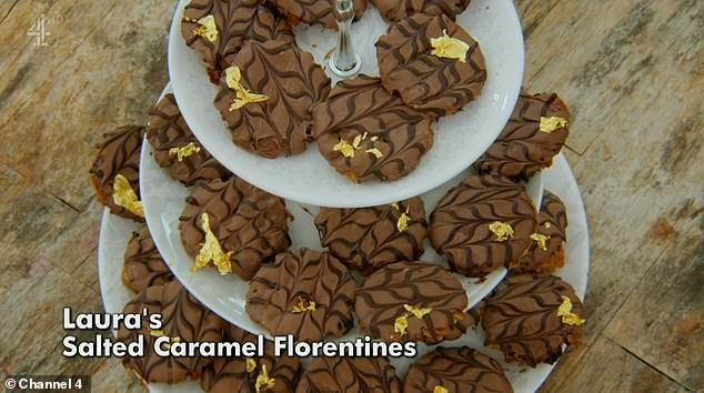 Tricky: Prue Leith and Paul Hollywood set the bakers off with the signature task- 36 chocolate florentines with a perfect snap