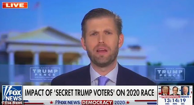 Eric Trump was mercilessly mocked on Twitter after he mistakenly claimed to be 'part of' the LGBT community during a Fox & Friends interview on Tuesday