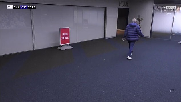 Mourinho went after Dier after sprinting through the tunnel for his emergency toilet break