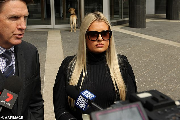 'It was not Ms Robinson that made this private video go public,' her lawyer told reporters outside court at her last scheduled appearance