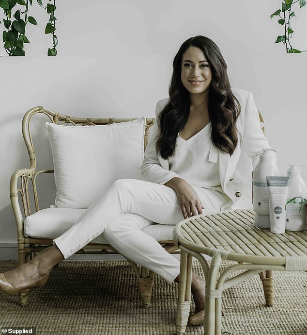 Moogoo CEO Melody Livingstone (pictured) says Bakuchiol Serum works all the wonders of retinol without side effects like skin dryness, increased risk of sunburn and birth defects
