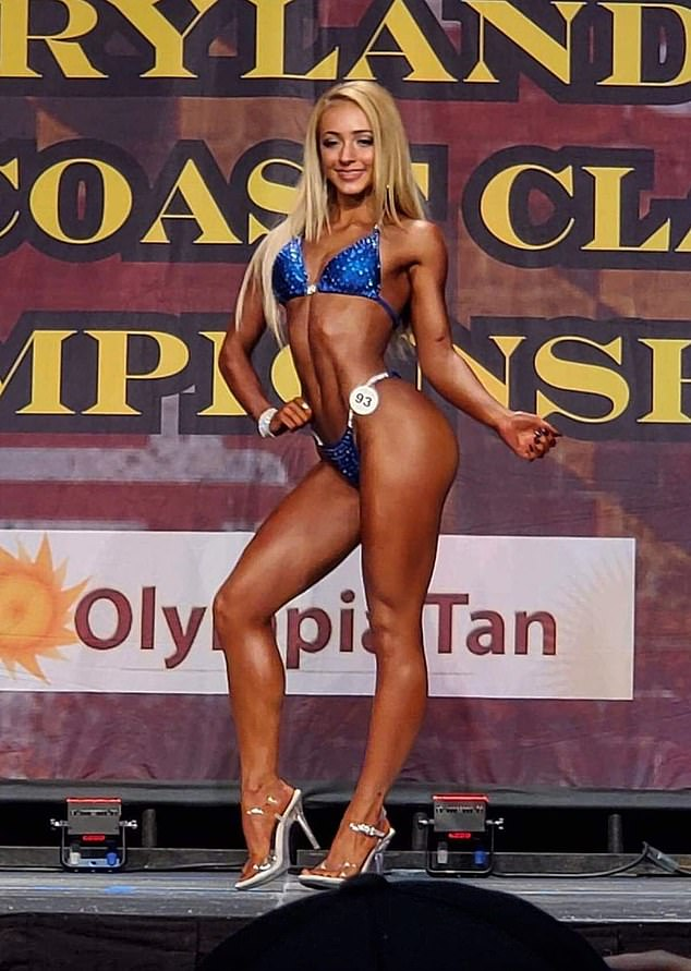 Just like mom and dad!In June 2019, Delaaney competed in her first competition (pictured) and took first place in her age division