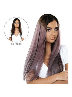 Beauty Works Double Hair Set Clip-In Extensions in Mauve Metallic (£315) at Very