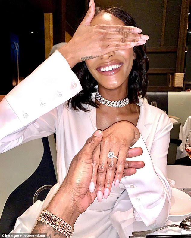 Engaged!Despite the pandemic, the British beauty had a year of celebrations following her engagement announcement to her partner Dion in February 2020