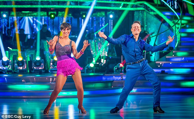 Frankie added: 'It's a big time commitment and I think the difference between Dancing On Ice and Strictly is that I love Strictly and I had always wanted to do it' (pictured in 2014)