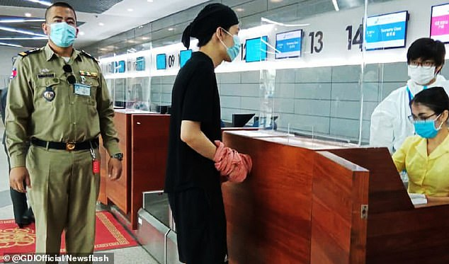 The suspect, a 22-year-old Chinese international student, was deported on the China Southern Airlines flight CZ8314 from Phnom Penh to Guangzhou in China on September 29