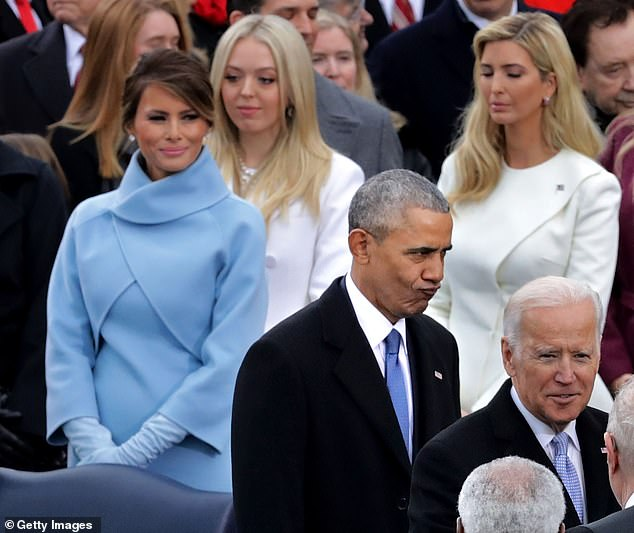 Family: Melania, Ivanka, and Tiffany are only pictured together on rare occasions, like in January 2017 during President Trump's inauguration