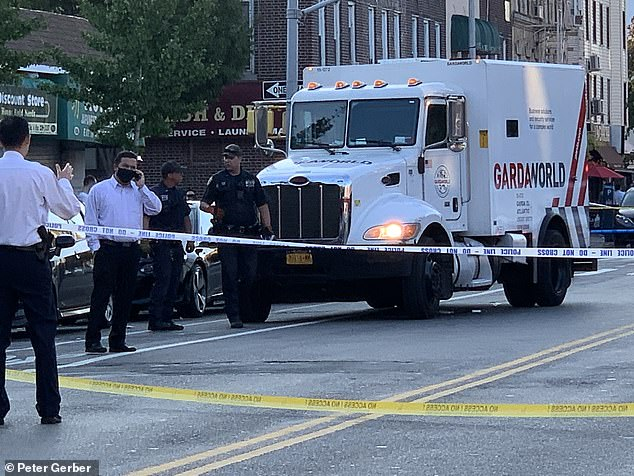 The GardaWorld driver stayed at the scene but NYPD say no criminality is suspected
