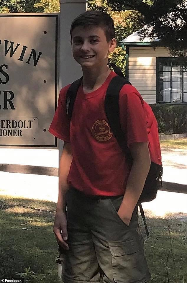 In 2018, Murphy was drunk behind the wheel of his Mercedes when he plowed into a group of five Boy Scouts, killing 12-year-old Andrew McMorris (above)