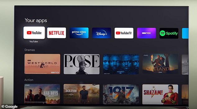 Google is also making its move into streaming with Google TV, which has a programming bundle similar to what cable and satellite providers offer. Google TV is the redesigned Google Play Movies & TV app