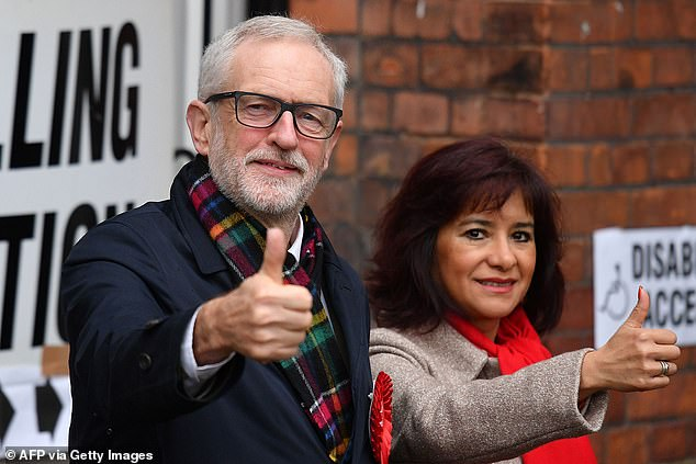 The photo showed the former Labour leader, 71, and his wife Laura Alvarez, 51, seated around a nine-person strong table at a friend's house. (File image)