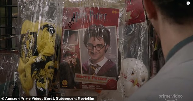 Elsewhere during the trailer, the character decides to dress up after being too recognizable to the audience and he goes to a costume store, where he asks if Harry Potter is a 'sex offender'.