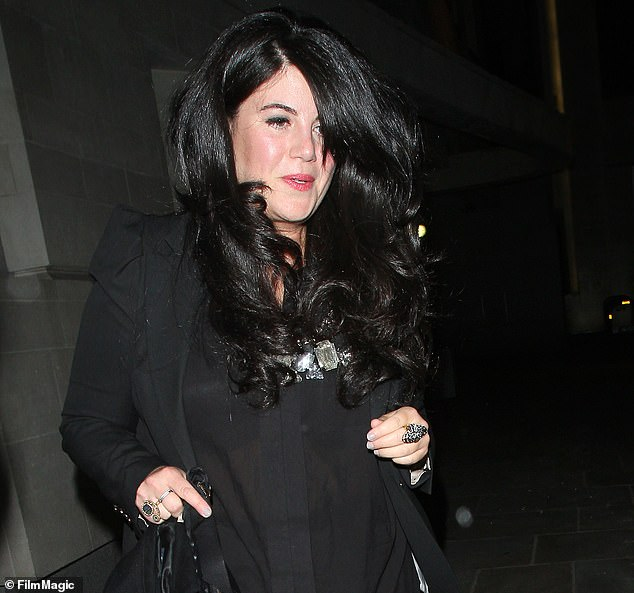 Lewinsky is pictured in 2013 when she was still reeling from the attempted carjacking