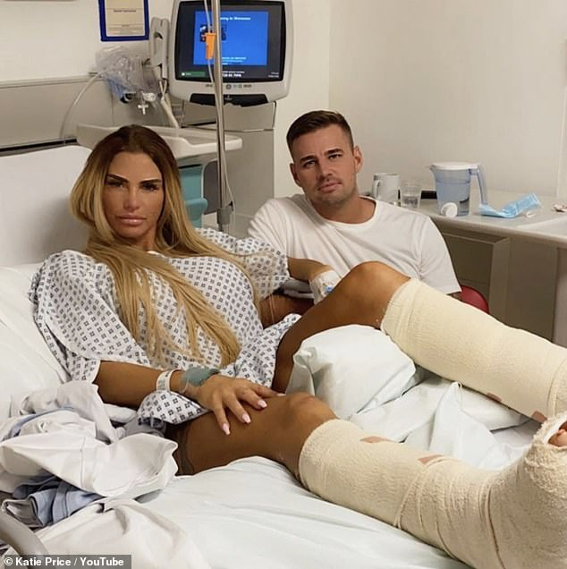 Strong couple: Carl has been helping Katie recover from her foot surgerywith her rep telling MailOnline he was 'just what the doctor ordered'