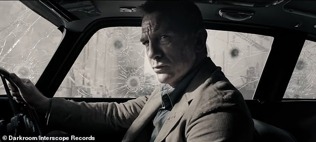 High Speed: Bond is also seen in a high speed car chase in new scenes in the upcoming film