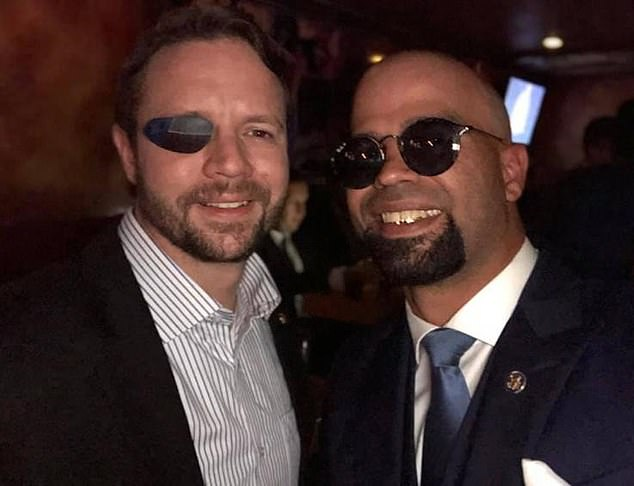 Tarrio posted for a photo with Republican Rep. Dan Crenshaw and posted the photo online with the caption, '3 eyes...2 patriots,'