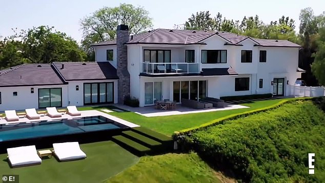 His Excavations: The teaser begins with a shot of the back of Scott's large white house in Calabasas, California, which features a swimming pool