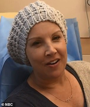 Battling breast cancer: The journalist underwent surgery, eight rounds of chemotherapy, and 25 rounds of radiation