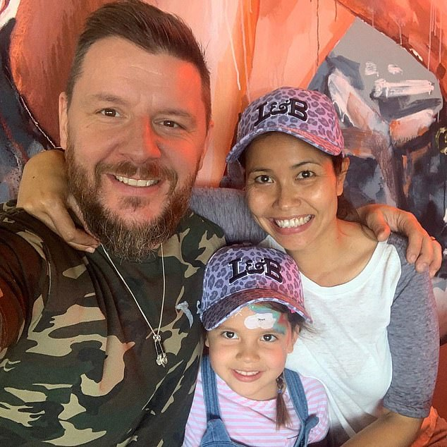 Married life: Manu is married to Clarissa Weerasena in 2018 and they welcomed their daughter Charlee Ariya back in 2015