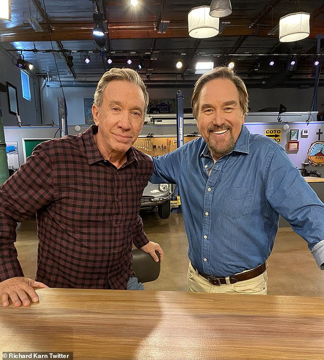 Reunited! Home Improvement's Tim Allen and Richard Karn gave fans a behind-the-scenes preview of his upcoming competition series on the History Channel over Twitter
