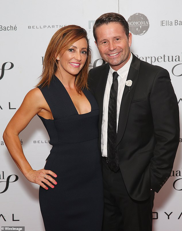 Moving on! Rosie (left)split with her ex-husband, Today show weatherman Steve Jacobs, (right) two years ago