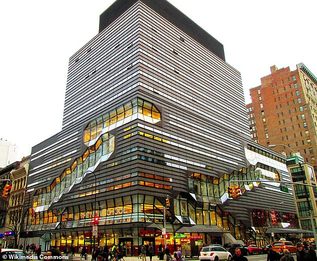 Samantha was a student at Parsons School of Design (pictured in Manhattan) when she was introduced to Epstein
