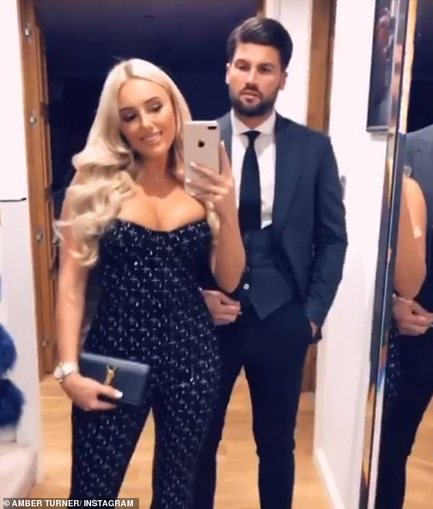 Couple: It comes after Amber previously opened up about how Dan has become a 'changed man' since they reignited their romance after his relationship with Chloe