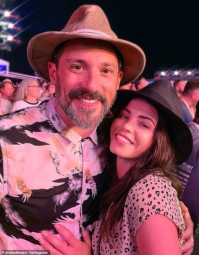 Engaged: The World Of Dance host shares Callum with her actor fiance Steve Kazee. She and Kazee, 44, started dating in 2018 and welcomed their son this past April