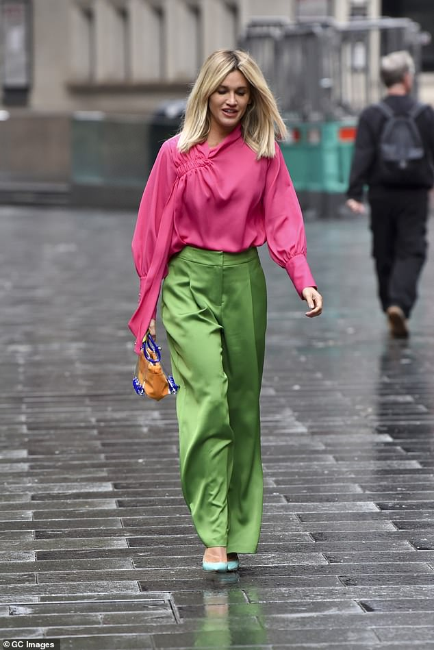 Elegant: Ashley still looked her usual chic self while sporting the jewel tones