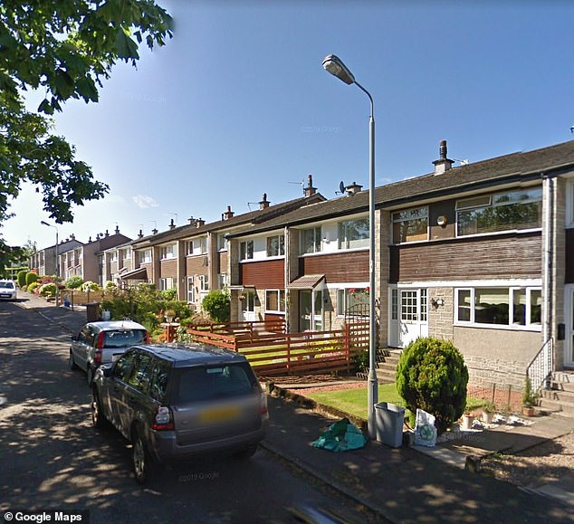 Less growth: Eagelsham, near Glasgow, is ranked 15th on the list, which has seen an average growth of 2.2 percent in prices.  In the photo, a street in the region