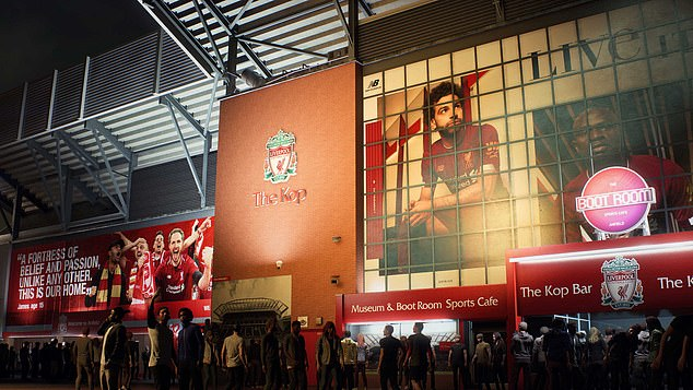 FIFA have mapped out realism across the board, with the exterior of Anfield seen here