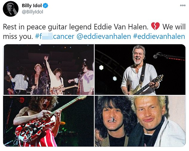 Respect: Musical mainstays such as Tommy Lee, Lenny Kravitz and Billy Idol have paid tribute to the rock staple