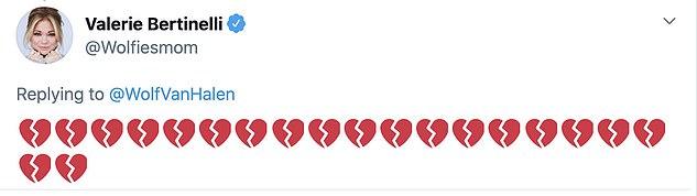 Eddie's ex-wife Valerie Bertinelli used heartbroken emojis to express grief
