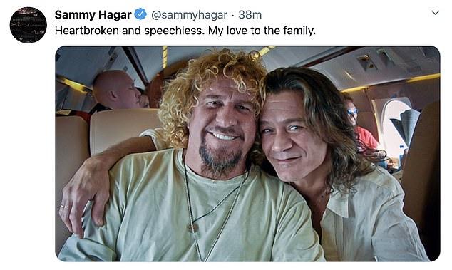Bandmates: Van Halen's Sammy Hagar said he was 'heartbroken and speechless'