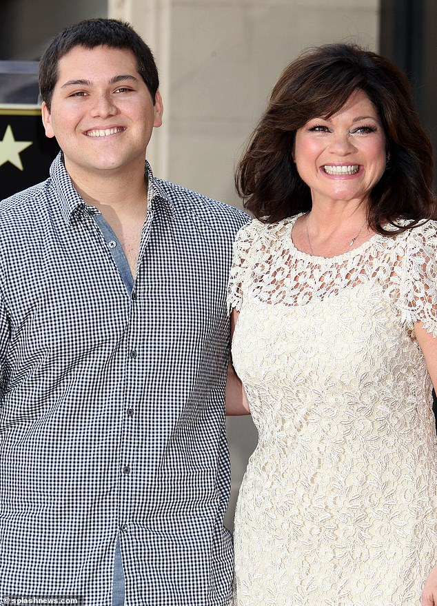 Valerie Bertinelli with Wolfgang in 2012, honored with Star on the Hollywood Walk of Fame