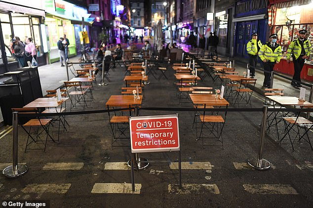 Boris Johnson's 10pm curfew has seen streets and businesses deserted in major cities