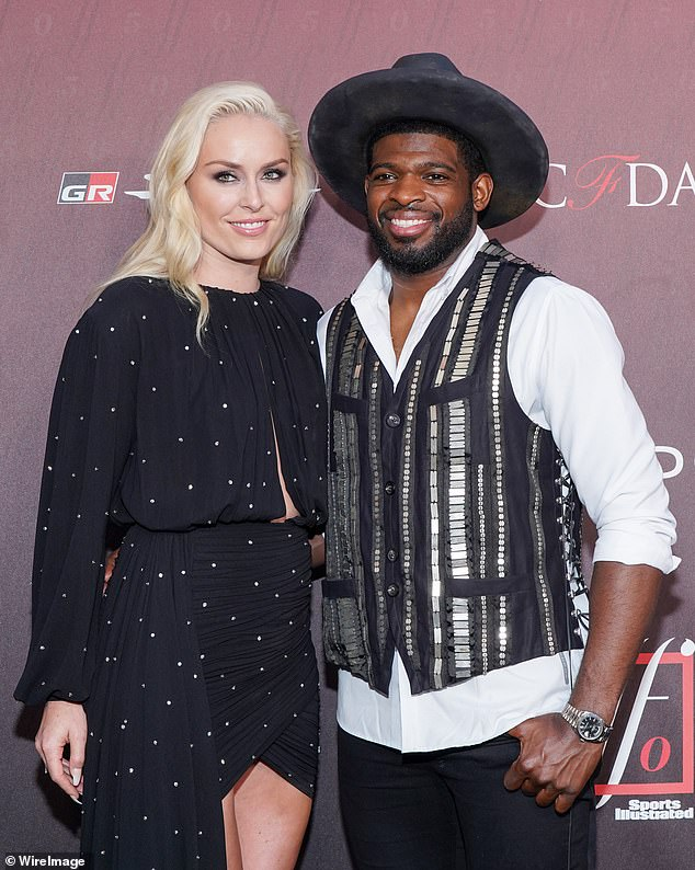 Wedding TBD: Lindsey is waiting for the right time to wed her beloved fiance, pro hockey player PK Subban; seen in November of 2019 because of the pandemic