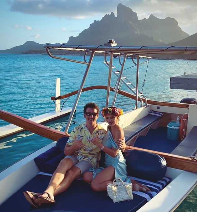 Happy anniversary! He and Sperry celebrated their first anniversary last month, sharing photos from their tropical Tahitian getaway