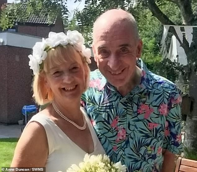 She revealed her husband 'showered her with kisses' and hugs for weeks after their 'wedding' in their backyard