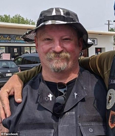 Keltner (pictured) was Marine veteran and grandfather, according to loved ones who confirmed his death on Facebook