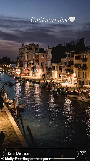Compensated: However, Molly shared some wonderful snaps of Venice's stunning landscape and waterways during her trip