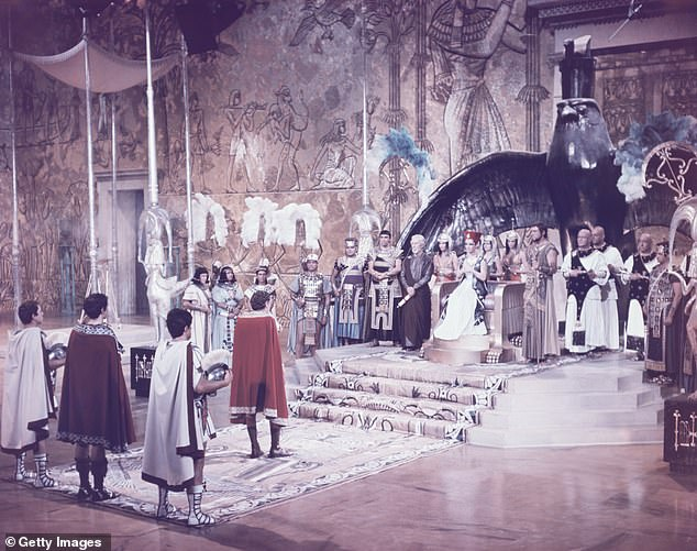 Hollywood History: Cleopatra was nominated for nine Oscars in 1964, including Best Picture, and won four - for art direction, cinematography, visual effects, and costume design.