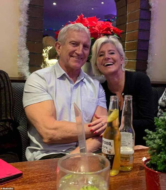 Noye is pictured smiling during a romantic meal with his old flame Mrs Bricker-Jones, but the pair now appear to have split
