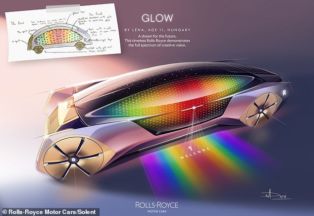 For the fun category Léna, aged 11 from Hungary, designed a colourful vehicle called Glow