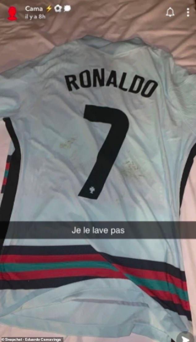 French youngster Eduardo Camavinga said he would 'not wash' Ronaldo's shirt on Sunday
