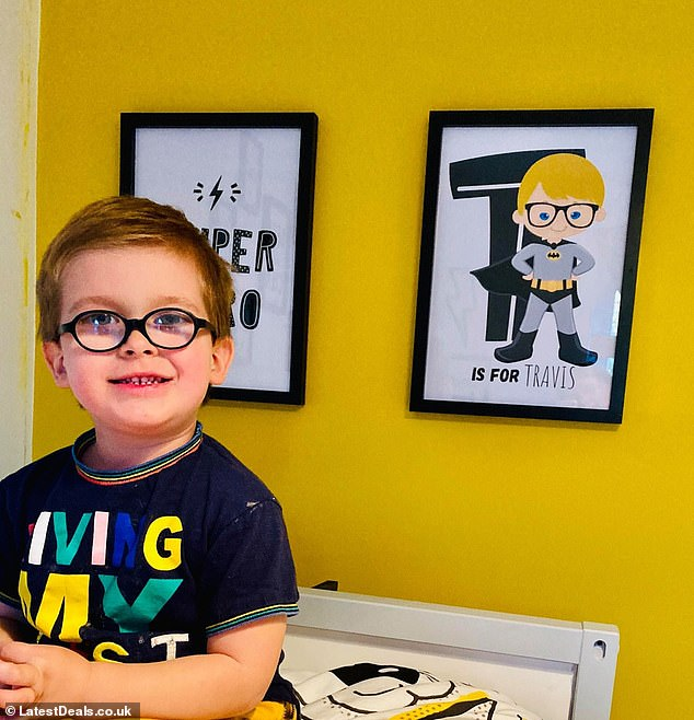 Erin revealed her son Travis is delighted with his new superhero themed bedroom, and said that the decoration project helped them bond during lockdown