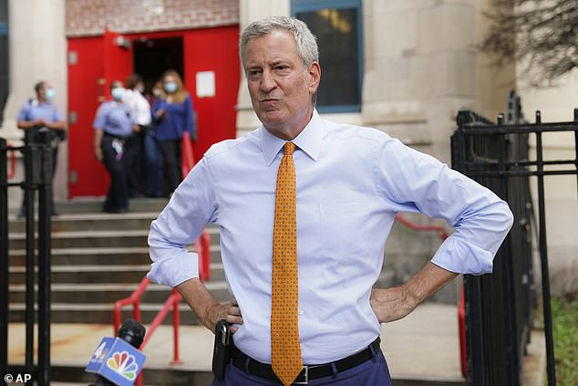 De Blasio, mayor of New York since 2014, has a long history of run-ins with the NYPD